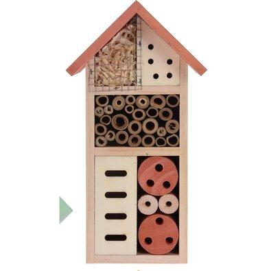 Domček pre hmyz červená, 13 x 26 cm