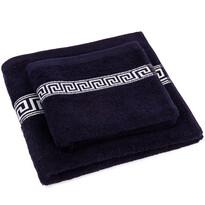 Greek törölköző és kéztörlő szett, sötétkék, 50 x 100 cm, 70 x 140 cm