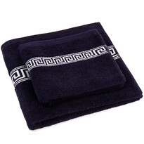 Sada uteráka a osušky Greek tmavomodrá, 50 x 90 cm, 70 x 130 cm