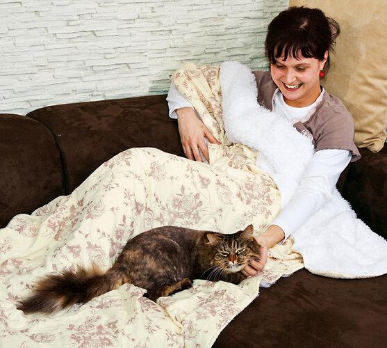 Luxusní beránkové deky