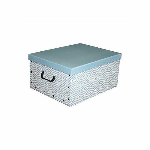 Compactor Skládací úložná krabice - karton box Compactor Nordic 50 x 40 x 25 cm, světle modá