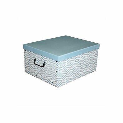 Compactor Skladacia úložná krabica Nordic, 50 x 40 x 25 cm, modrá