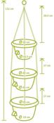 Plastia Siesta Trio Žardina samozavlažovací s kovovým závěsem terakota