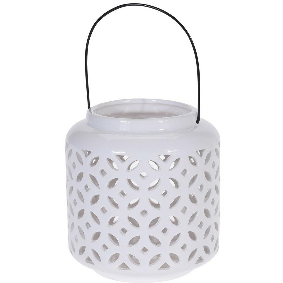 Świecznik ceramiczny do powieszenia Kwiatki, 18,5 cm