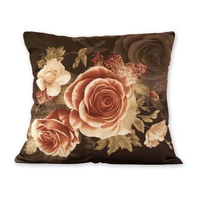Povlak na polštářek Klasic růže černá, 45 x 45 cm