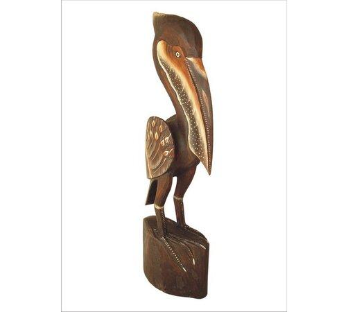 Dřevěná dekorace pelikán