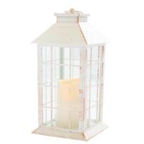 Lampáš s LED sviečkou na batérie Lille 14 x 28 cm, biela