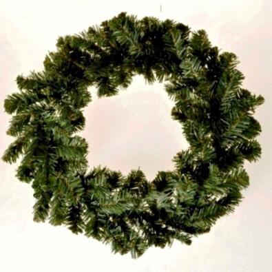 Dekorativní vánoční věnec smrkový, pr. 18 cm, zelená, 18 cm