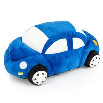 Tvarovaný polštářek Autíčko modrá, 33 x 15 cm