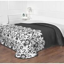 Narzuta na łóżko Versaille czarno-biała, 140 x 220 cm