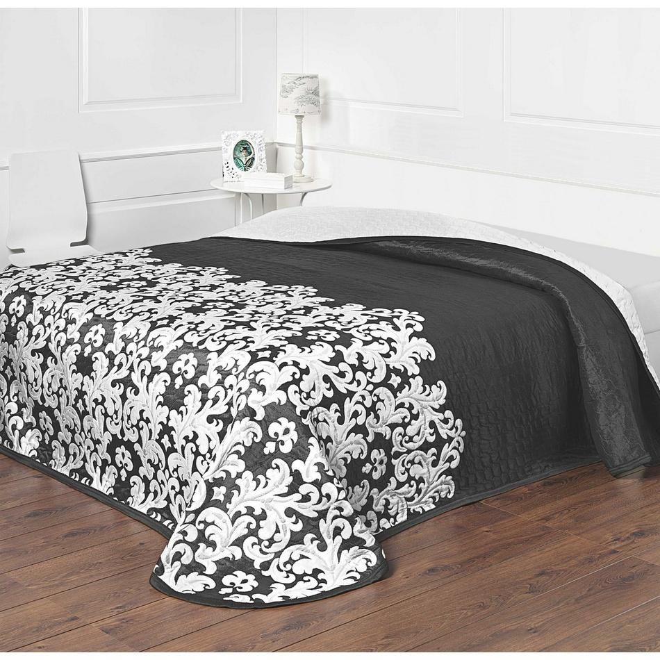 Forbyt Přehoz na postel Versaille černobílá