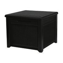 Keter Cube Rattan kerti tárolódoboz, barna, 208 l