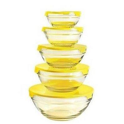 Florina 5dílná sada misek Verdure, žlutá