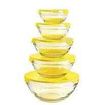 Florina 5 db-os üveg tálkészlet  Verdure, sárga