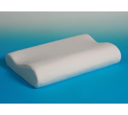 Polštář z paměťové pěny, 50 x 30 x 10/7 cm, bílá, 50 x 30 x 10/7 cm