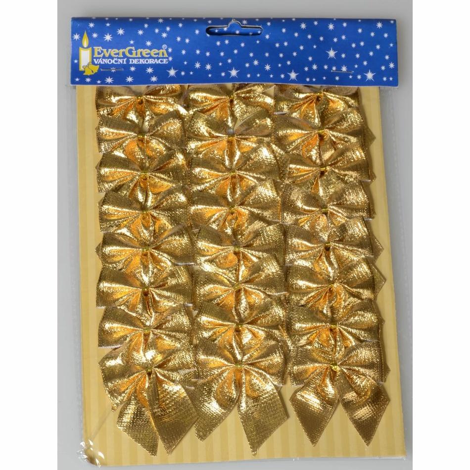 Mašle zlatá 5,5 cm, 24 ks