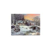 LED obraz na plátne Winter, 20 x 15 cm