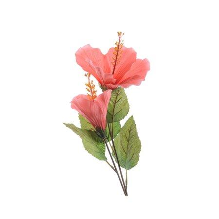 Floare artificială Hibiscus, roz, 71 cm