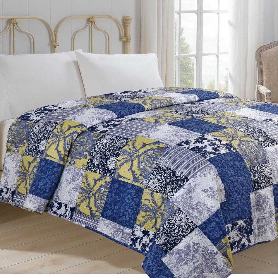 Jahu Prehoz na posteľ Modrotlač, 220 x 240 cm