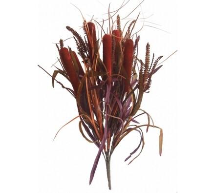 Umělá kytice trávy s doutníky