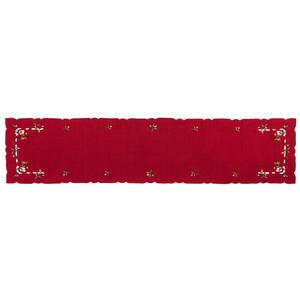 Vánoční ubrus jmelí červená, 35 x 160 cm