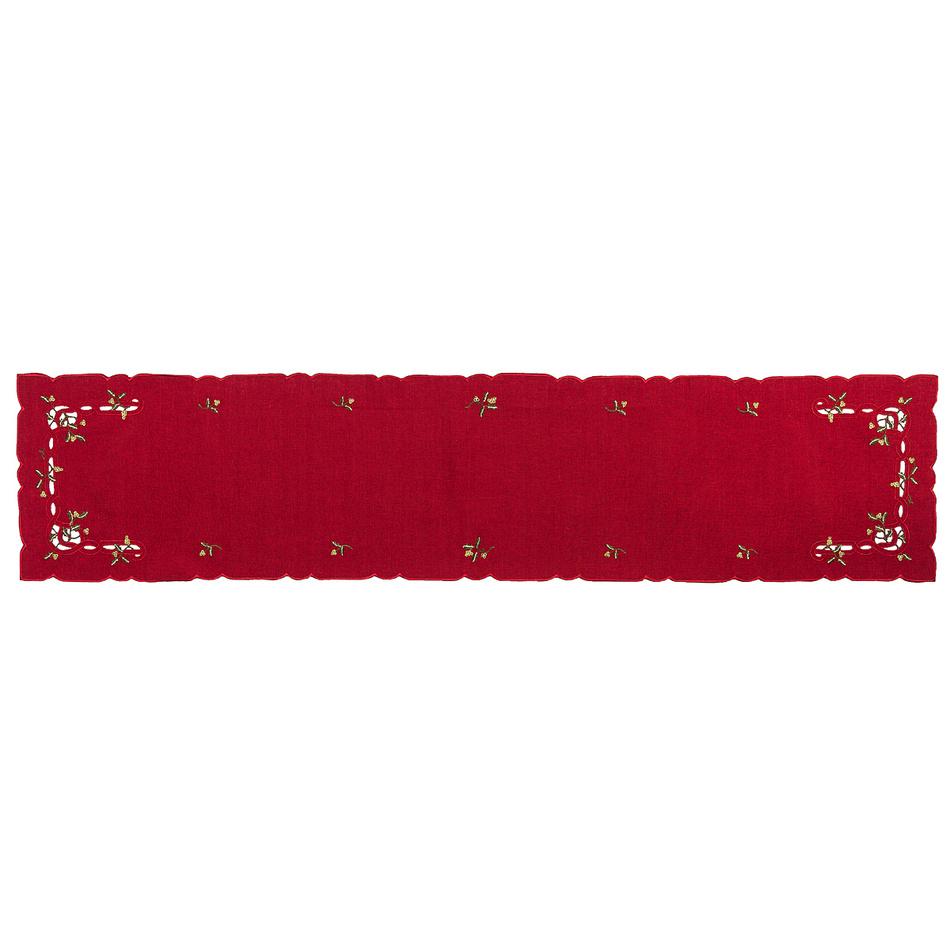 Forbyt Vianočný obrus imelo červená, , 35 x 160 cm