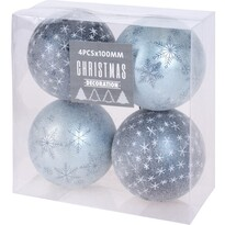 Koopman Karácsonyfadísz készlet Pachino kék, 4 db, átmérő 10 cm