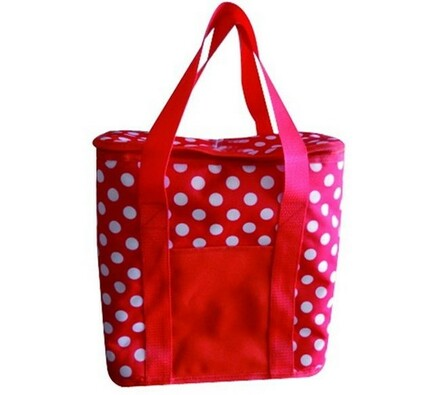 Chladící taška, bílá + červená, 20 l, Vetro Plus, bílá + červená