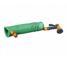 Wąż ogrodowy 7,5 m włącznie zpistoletem natryskowym, zielony