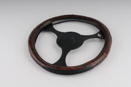 Potah na volant  - design dřevo hnedý