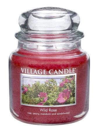 Village Candle Vonná sviečka Divoká ruža - Wild Rose, 397 g