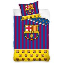 Lenjerie de pat FC Barcelona Erby, din bumbac, 140 x 200 cm, 70 x 90 cm