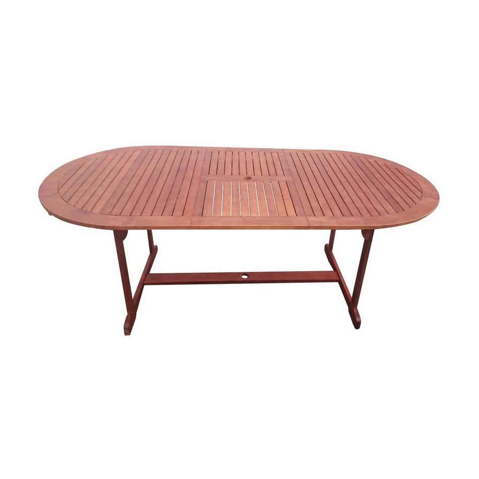 Rozkladací záhradný stôl Tana 150-200 x 100 cm, eukalyptus