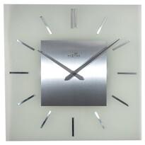 Nextime Stripe Square DCF 3148 nástenné hodiny strieborná, pr. 40 cm