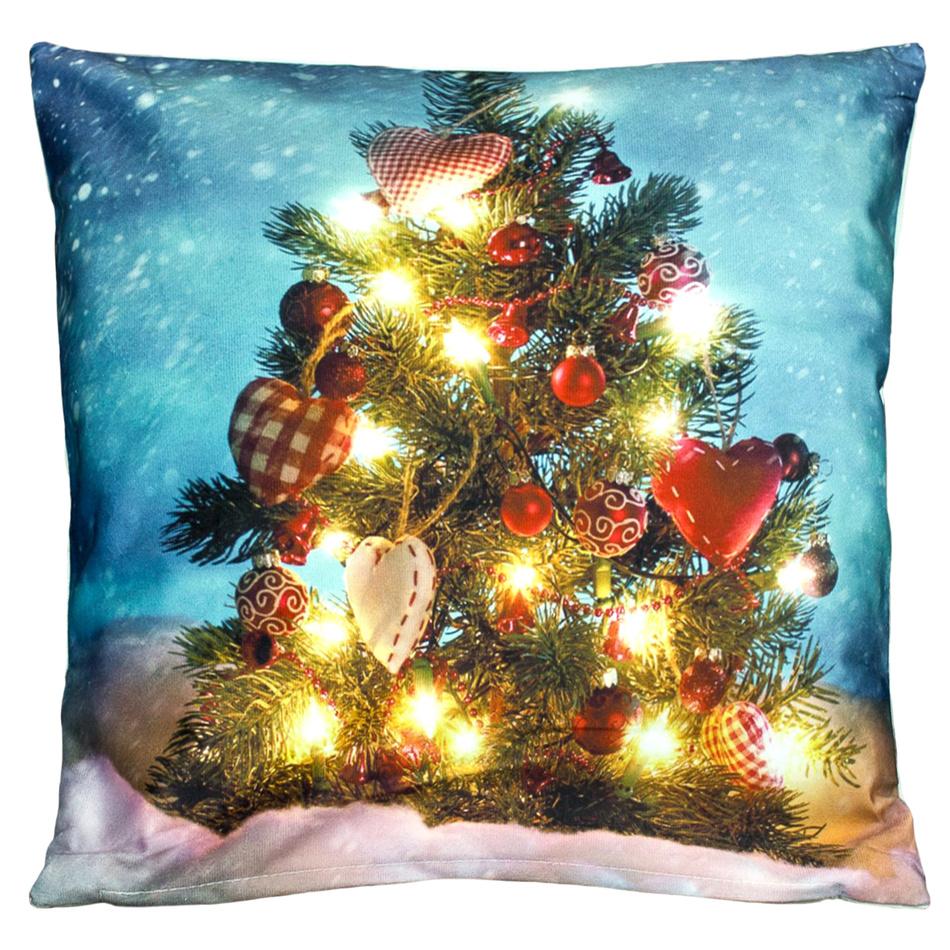 BO-MA Trading Povlak na polštářek Vánoční stromeček, 40 x 40 cm