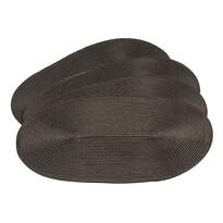 Suport farfurie Deco, oval, maro, 30 x 45 cm, set 4 buc.