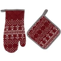 Zestaw kuchenny rękawica podkładka MERRY, 18 x 33 cm, 20 x 20 cm