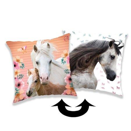 Jerry Fabrics Poduszka z cekinami Horse square, 40 x 40 cm