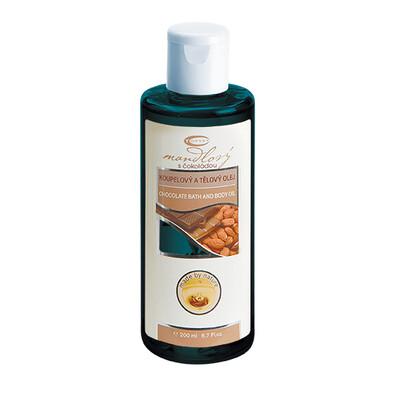 Topvet Masážní olej mandlový s čokoládou 200 ml
