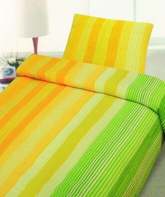 Krepové povlečení gelb orange 140x200, 70x90 cm