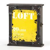 Skříňka na klíče Loft žlutá