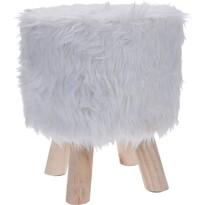 Taboret Fluffy, biały
