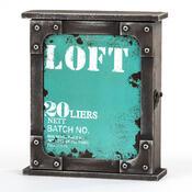 Skříňka na klíče Loft modrá