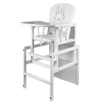 New Baby Borovicová stolička so stolíkom Králíček