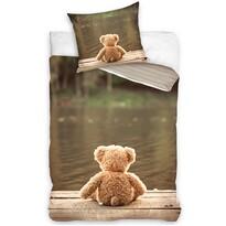 Lenjerie de pat Ursuleț, din bumbac, 140 x 200 cm, 70 x 90 cm