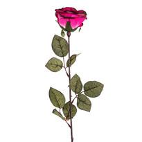 Umělá květina Růže velkokvětá 72 cm, růžová