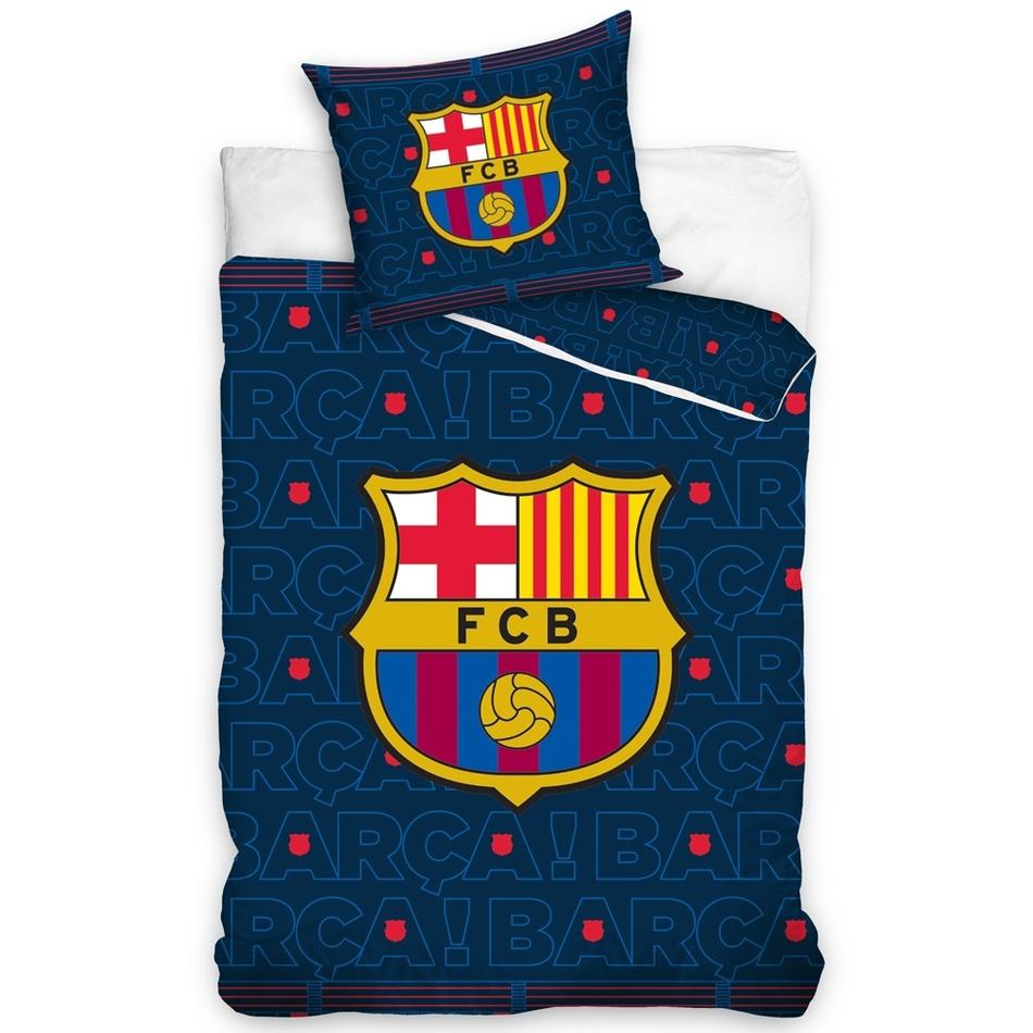 TipTrade Bavlněné povlečení FC Barcelona Barca, 140 x 200 cm, 70 x 90 cm