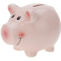 Skarbonka Happy pig różowy, 11,5 x 9,1 x 9,1 cm