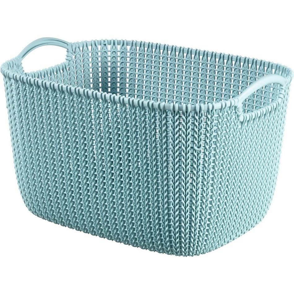 Curver Úložný box Knit 19 l, světle modrá
