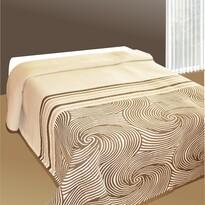 Prehoz na posteľ Espirales béžový, 240 x 260 cm